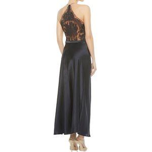 LA PERLA silk & lace freesia long nightgown S